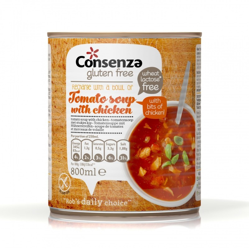 Tomatesuppe mit hühne 800ml