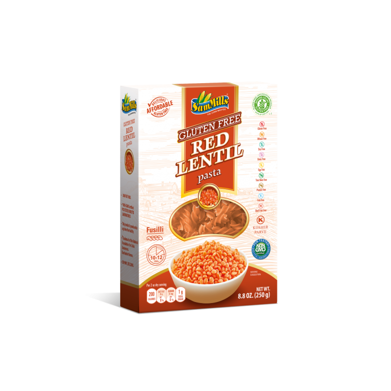 Red Lentil Fusilli 250 gram