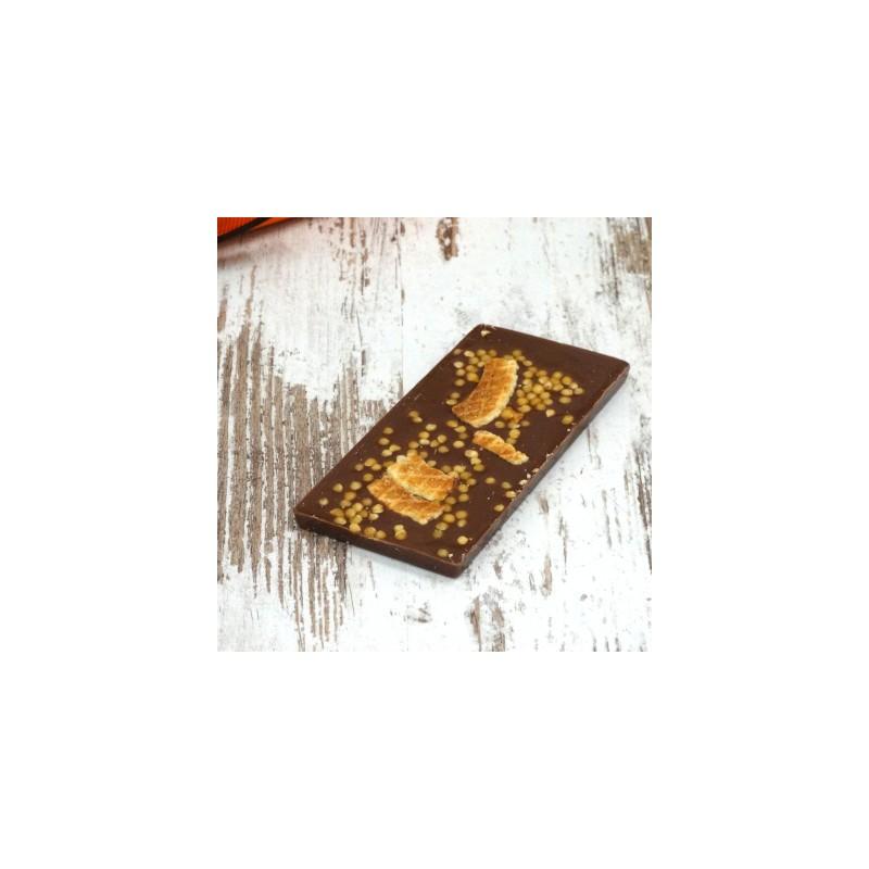 Schokolade Tafel Sirup Waffel und...